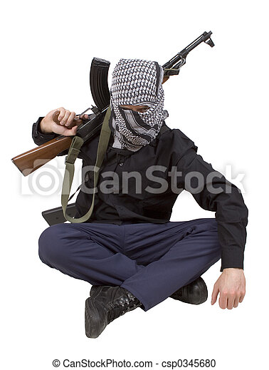 Realistic terrorist  - csp0345680