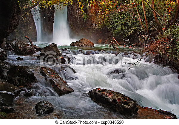 The Banias waterfall - csp0346520