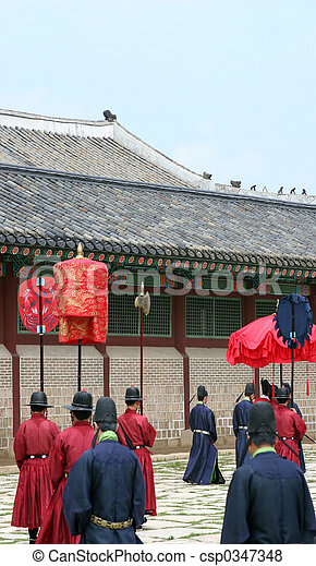 Traditional South Korean ceremony - csp0347348