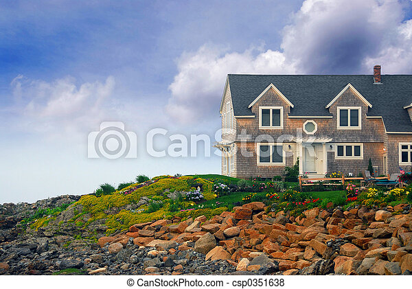 House on ocean shore - csp0351638