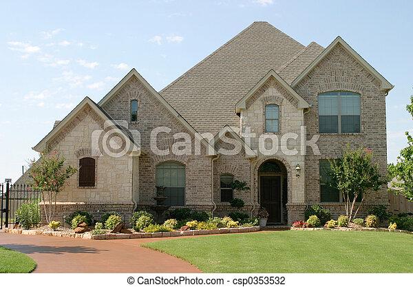 Large Surburban House - csp0353532
