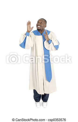 Man Worshipping 2 - csp0353576