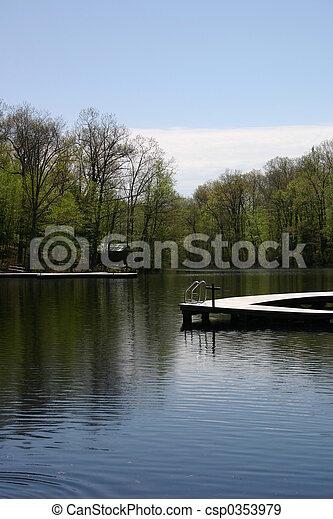 Serene Lake - csp0353979