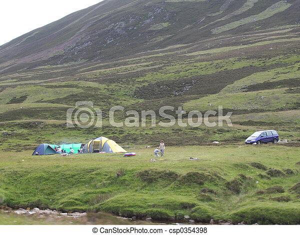 camping in the countryside - csp0354398