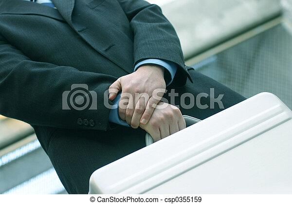 Businessman with briefcase 20 - csp0355159