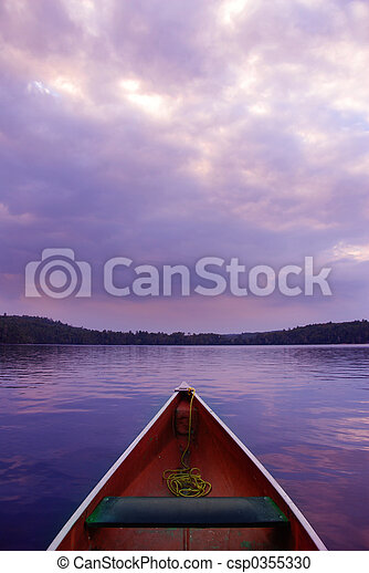 Sunset canoe - csp0355330