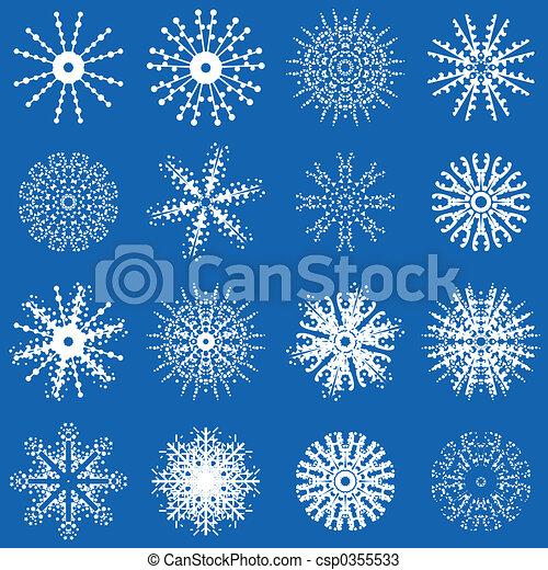 Dessins de hiver flocons neige snowflake conceptions csp0355533 recherchez des - Dessin flocon de neige simple ...