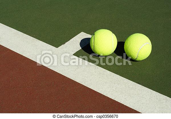 Two tennis balls - csp0356670