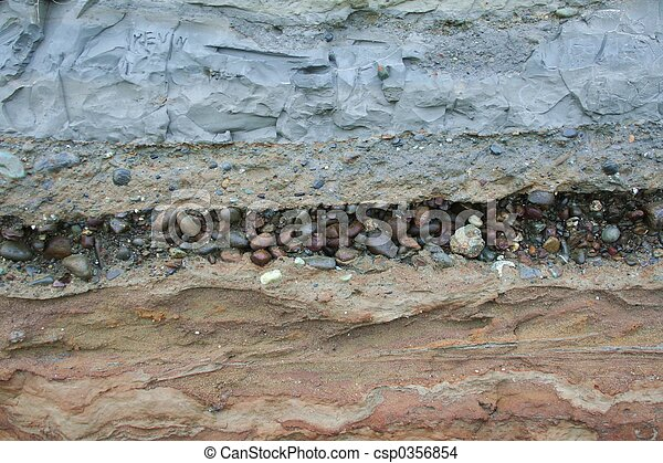 Stock photo of geology layers layers of geologic for Soil definition geology