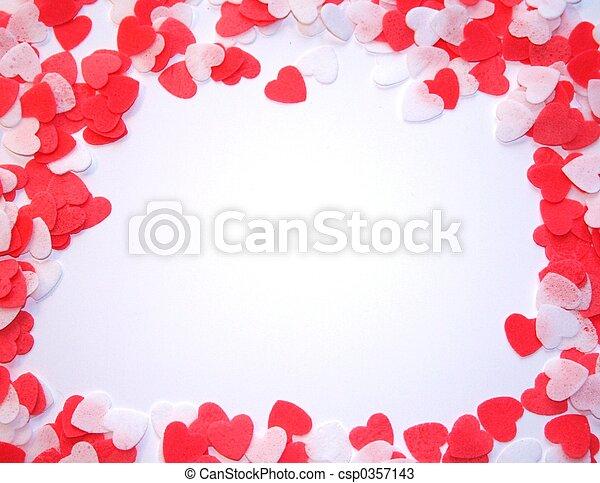 Hearts Frame - csp0357143