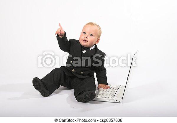 bebê, 10, executivo - csp0357606