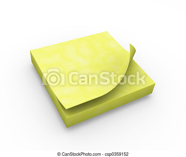 Post it note - csp0359152