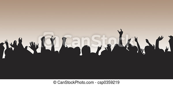 Crowd Silhouette - csp0359219