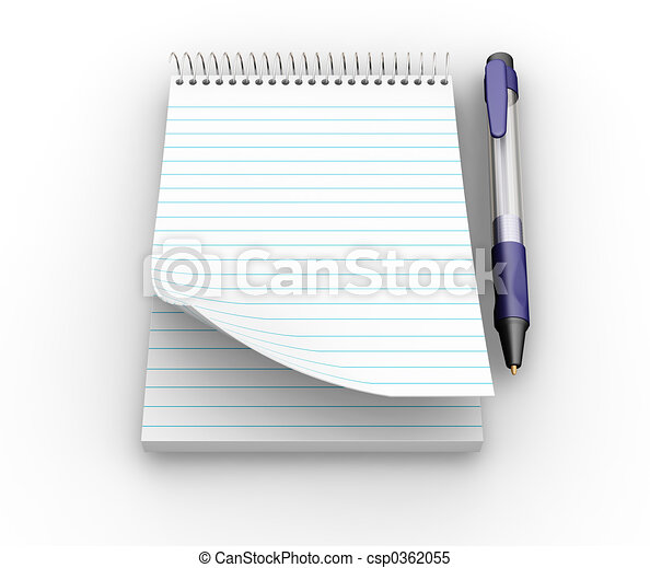 Notepad and pen - csp0362055