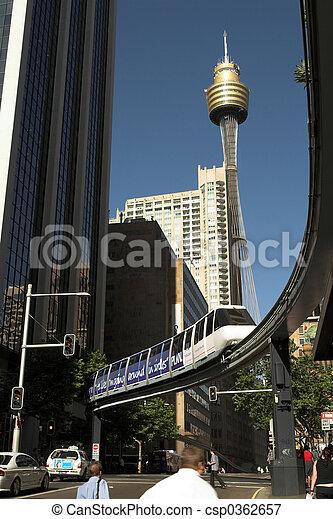 Monorail, Sydney, Australia - csp0362657