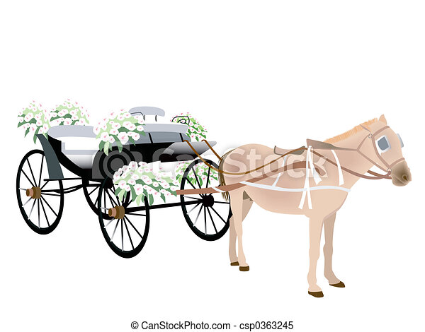 Wedding Carriage - csp0363245