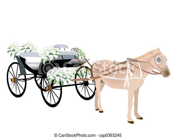 Wedding Carriage - csp0363245