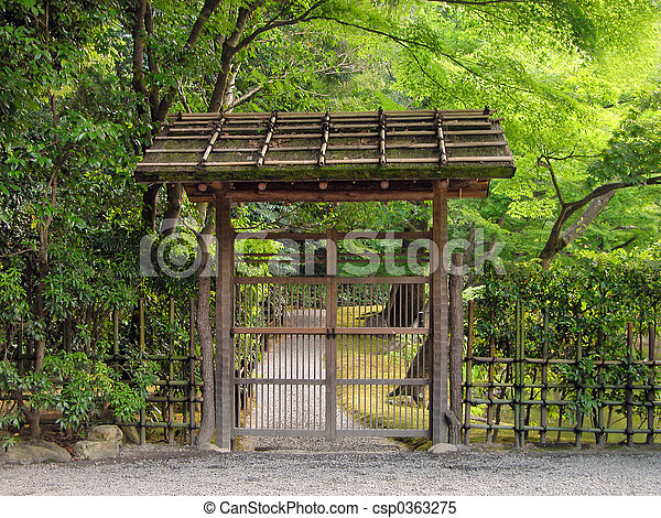 Stock Photo   Wooden Gate
