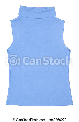 Light blue female sleeveless shirt - csp0366272