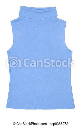 Light blue female sleeveless shirt - csp0366272