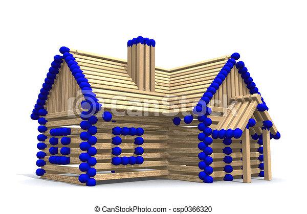 Haus bauen clipart  Stock Illustration von daheim, eigen, bauen, dein - One, stockwerk ...