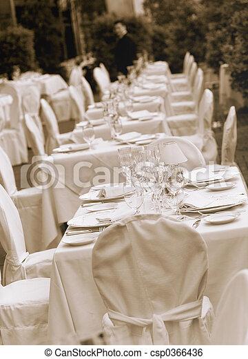 tavola, matrimonio - csp0366436