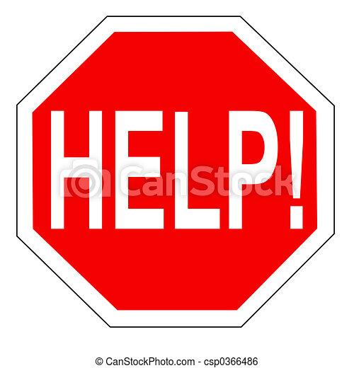 help sign - csp0366486