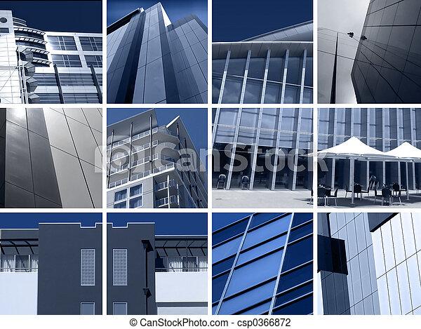 montage, architecture moderne - csp0366872