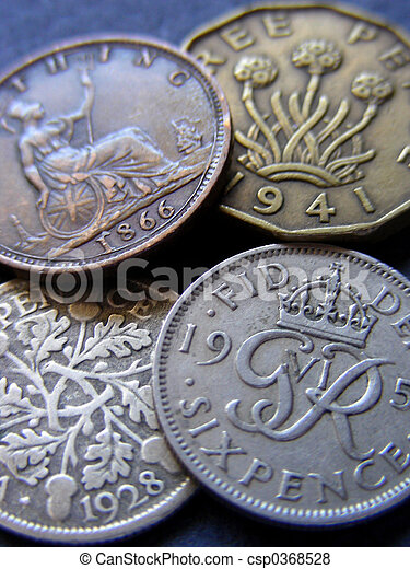 Old British Coins - csp0368528