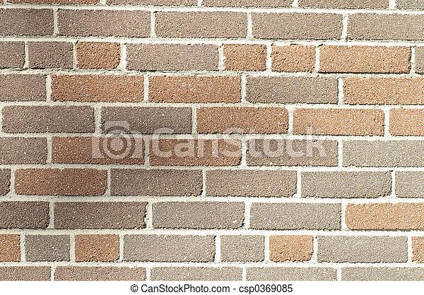 Multi Brown Brick - csp0369085