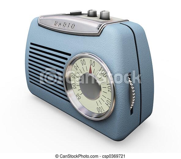 Retro radio - csp0369721