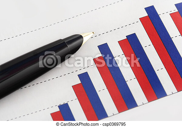 Pen on Positive Earning Graph - csp0369795
