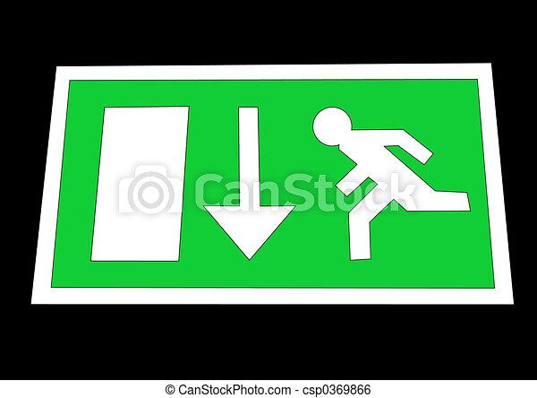 Emergency exit sign - csp0369866