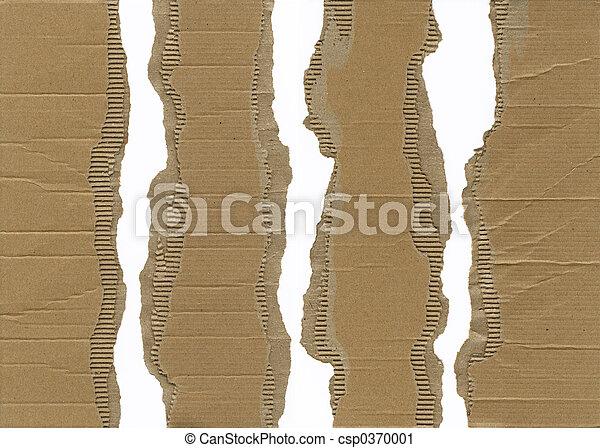 Torn Corrugated Cardboard - csp0370001
