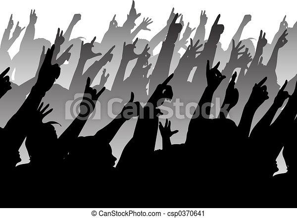 Rock crowd - csp0370641
