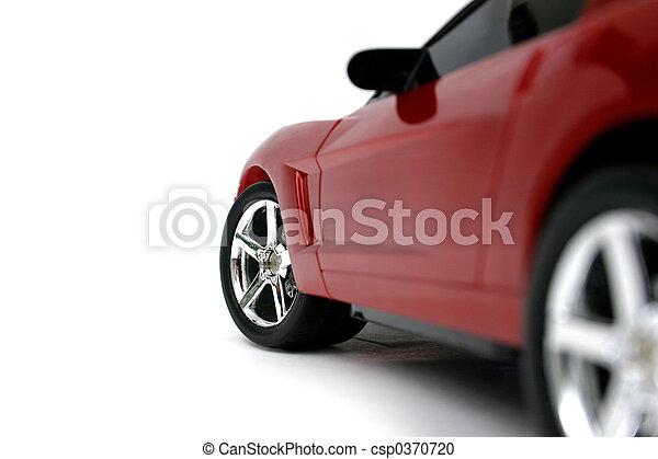 auto, rotes , miniatur - csp0370720