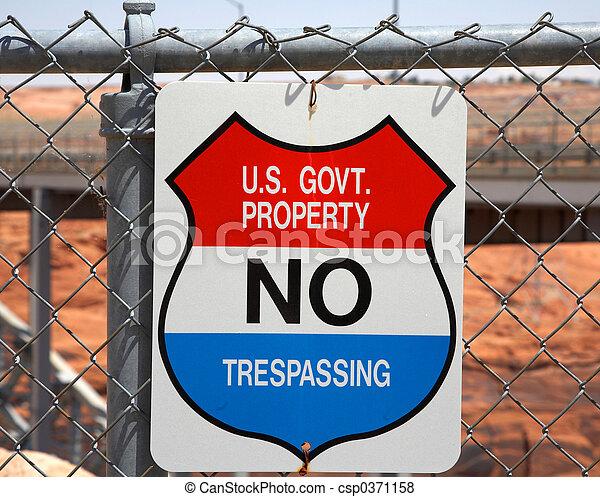 No Trespassing Sign - csp0371158