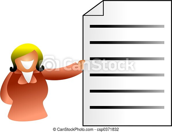 document woman - csp0371832