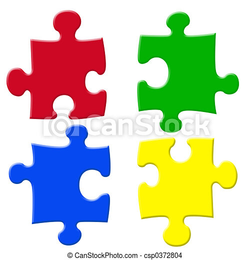 Basic colors jigsaw - csp0372804