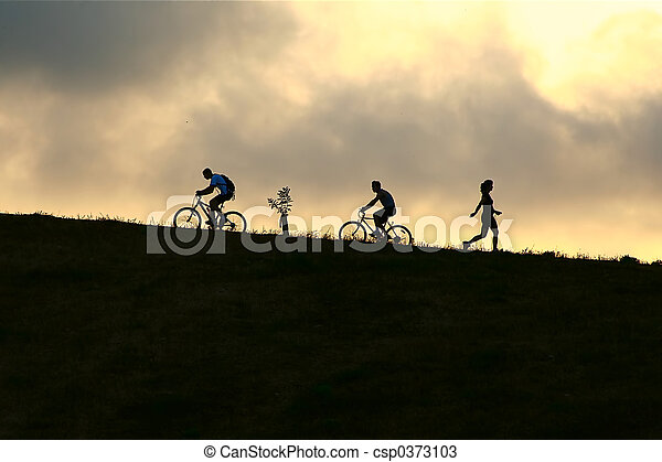 Mountain bikers - csp0373103