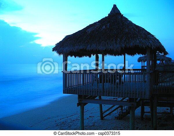 Florida beach hut - csp0373315