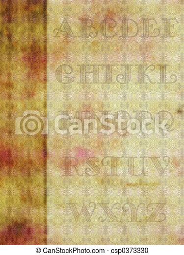 Alphabet background, - csp0373330