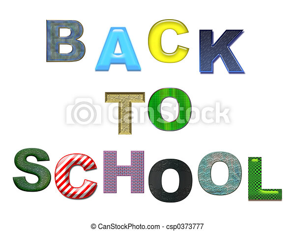 Back to School color - csp0373777