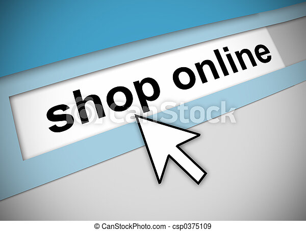 Pointing to shop online - csp0375109
