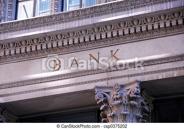 Bank building - csp0375202