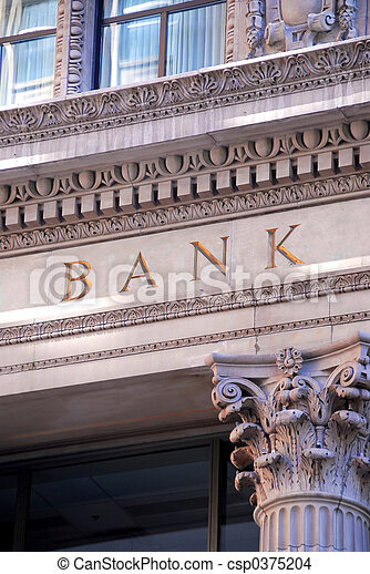 byggnad, bank - csp0375204