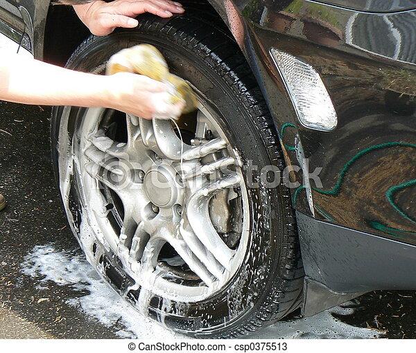 自動車, 洗いなさい - csp0375513