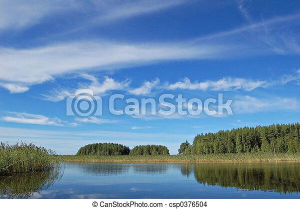 Finnish lake - csp0376504