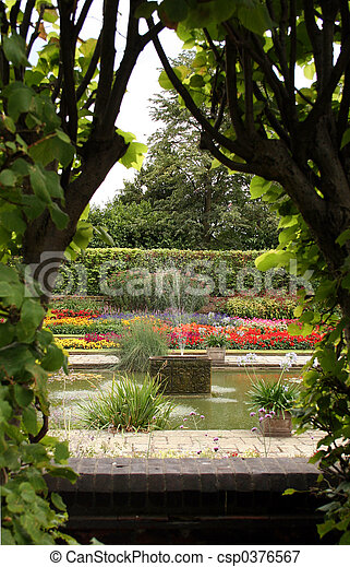 Formal English Garden - csp0376567