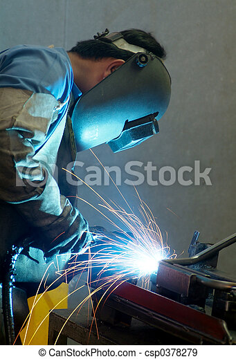 Welder at work - csp0378279